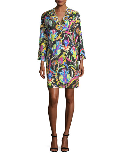 Psychedelic Horse-Print Jersey Dress