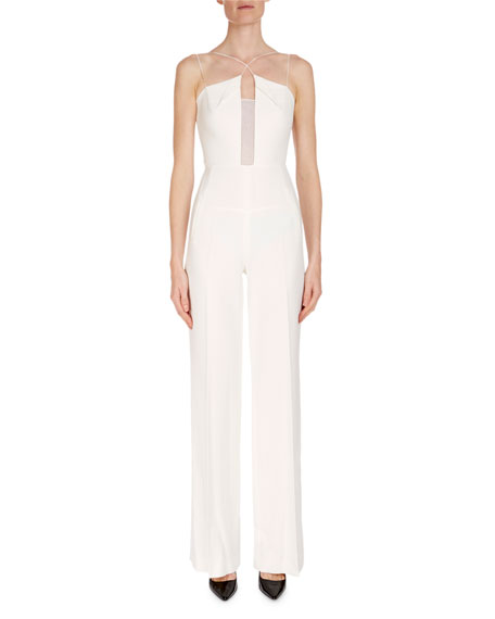 Crisscross Wide-Leg Jumpsuit