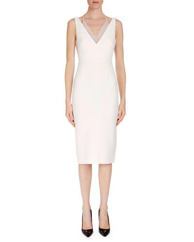 Sleeveless Layered V-Neck Dress