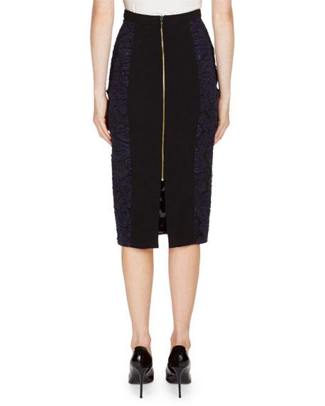 Leopard Lace Pencil Skirt
