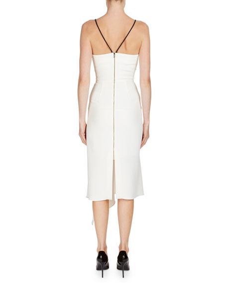 Rope-Trim Sleeveless Midi Dress