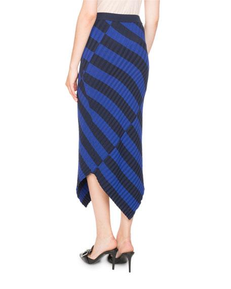Mixed-Stripe Knit Skirt