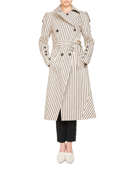 Altuzarra Striped Cotton Trench Coat