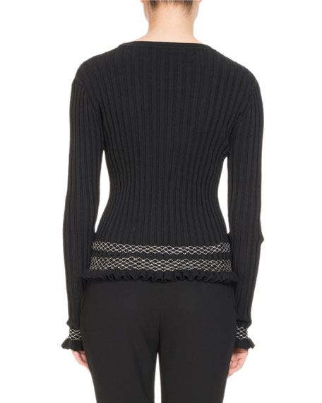 Long-Sleeve Ribbed Sweater