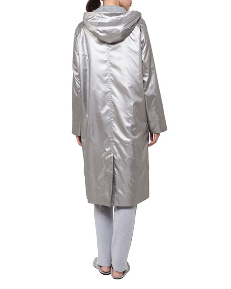 Long Hooded Two-in-One Coat
