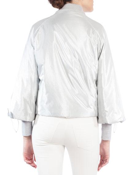 Techno Taffeta Bomber Jacket