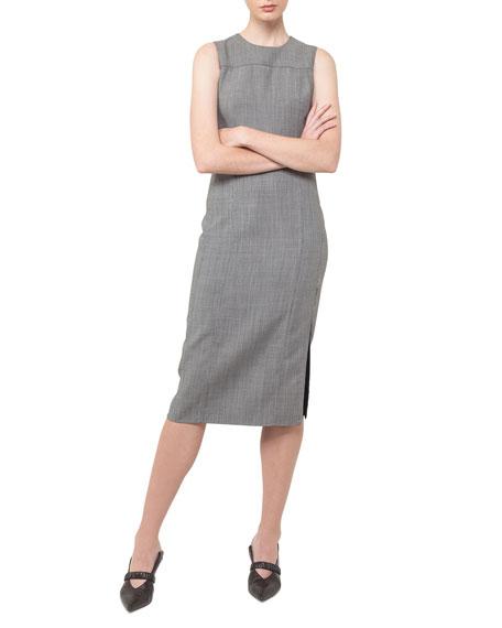 Sleeveless Side-Slit Sheath Dress