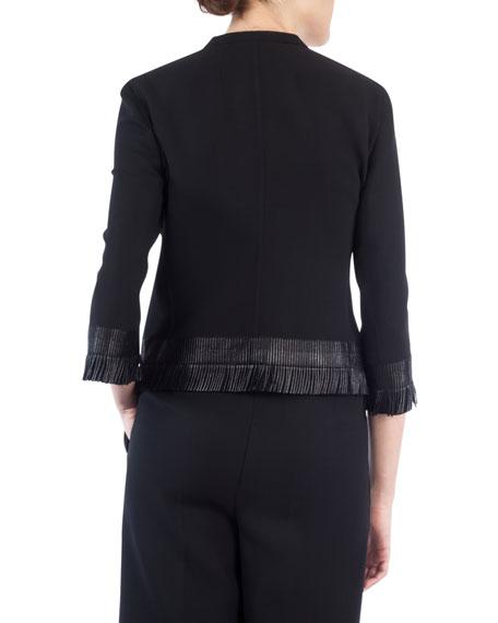 Fringed Hook-Front Jacket