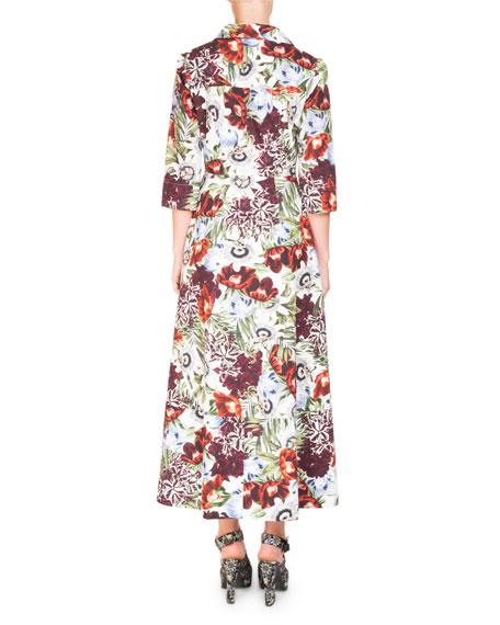 Kasia Floral-Print Midi Shirtdress