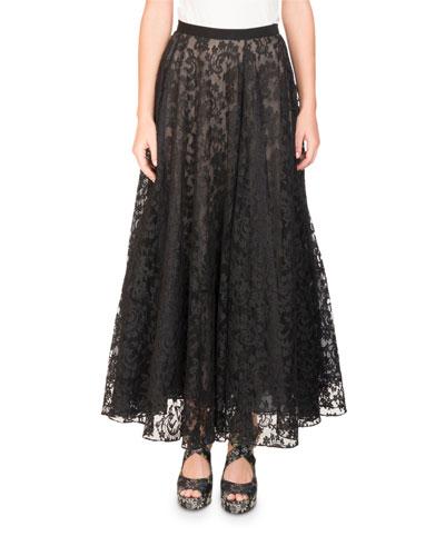 Zina Floral Lace Midi Skirt