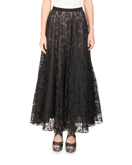 Zina Floral Lace Midi Skirt
