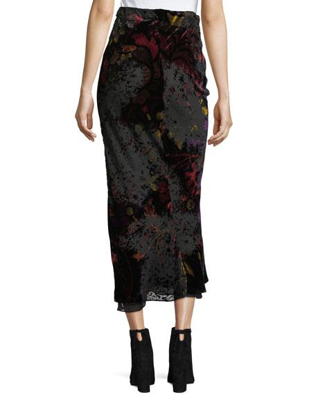 Velvet Devore Midi Skirt