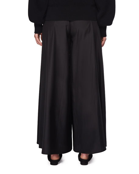 Elle Wide-Leg Silk Pants
