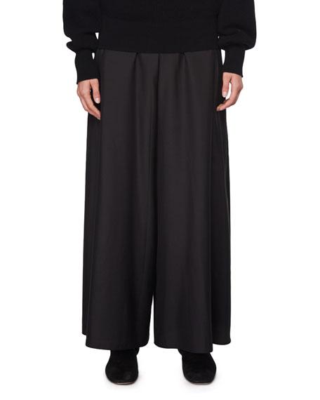 Elle Wide-Leg Silk Pants