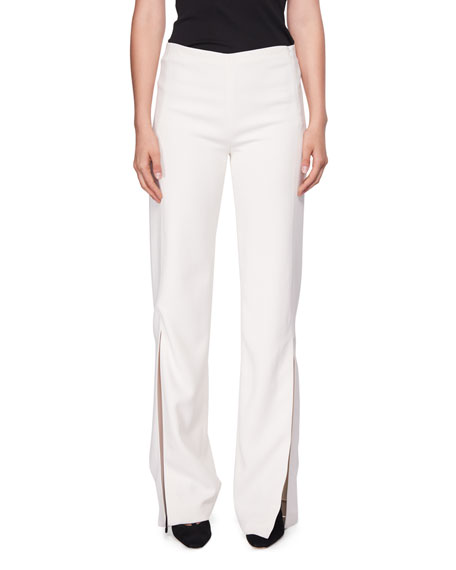 Zaler Side-Slit Cady Pants