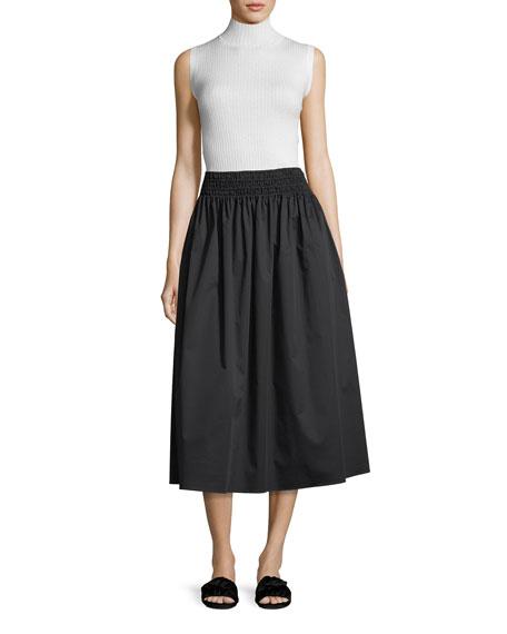 Betsy Full Poplin Long Skirt