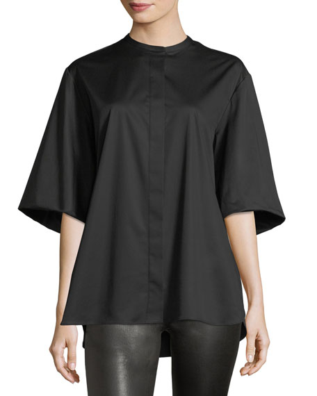 Raul Stretch-Poplin Blouse
