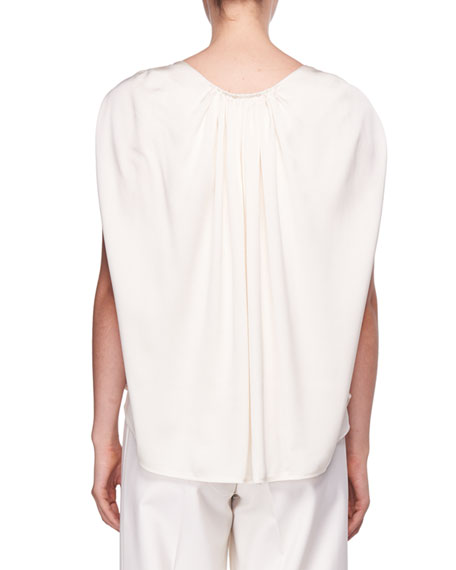Ada Cape-Back Silk Top
