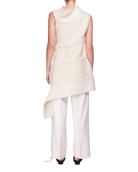 Nadria Sleeveless Cable-Knit Tunic