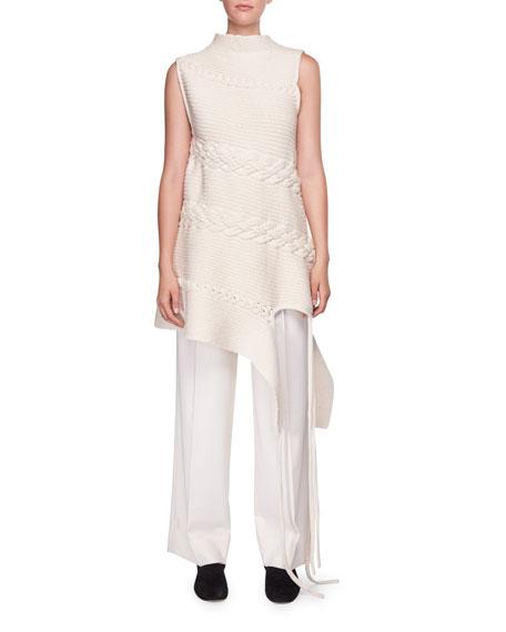 Nadria Sleeveless Cable-Knit Tunic