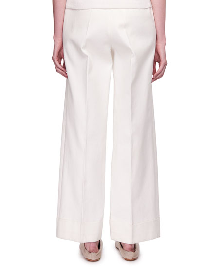 Liano Pleated Wide-Leg Pants