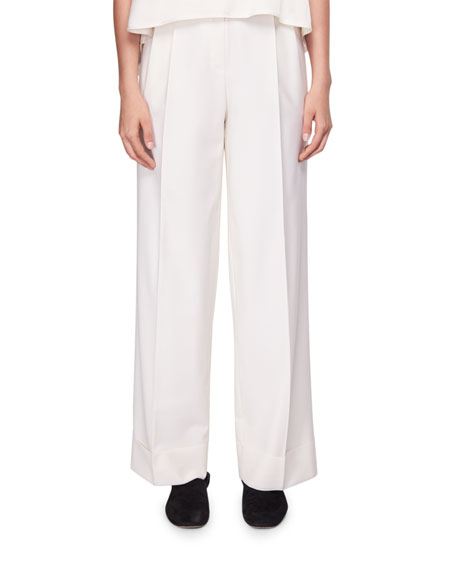 Liano Pleated Wide-Leg Pants