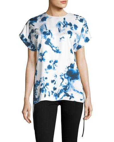 Tie-Dye Short-Sleeve Top