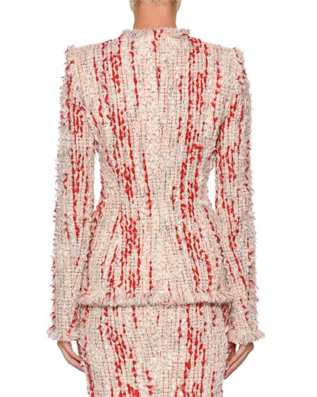 Fitted Chiffon Tweed Jacket