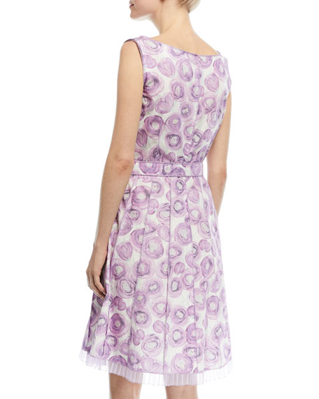 Sleeveless Floral-Print Cotton Dress