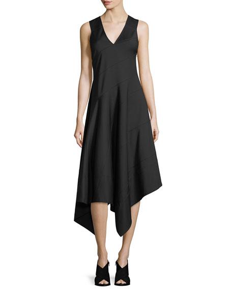 Sleeveless Asymmetric Midi Dress
