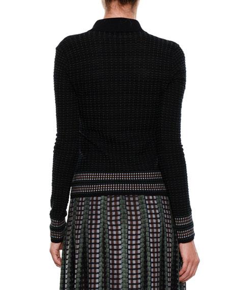 Chenille Polo Sweater