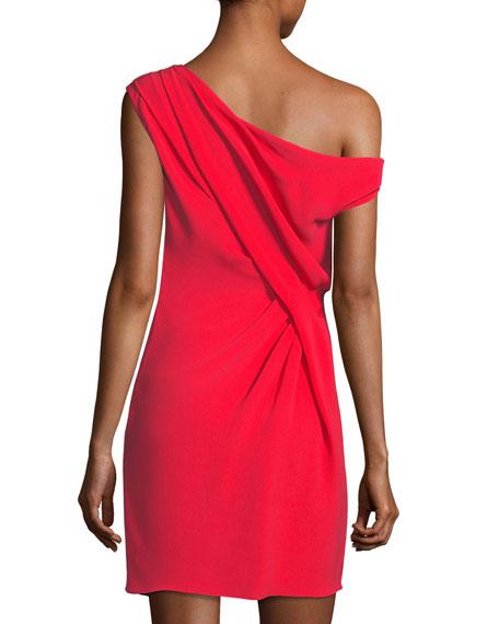 Draped Off-Shoulder Mini Dress