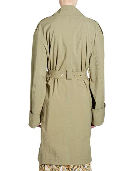 Leopold Grommet-Studded Trenchcoat