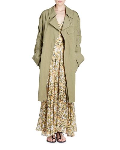 Grommet-Studded Trenchcoat
