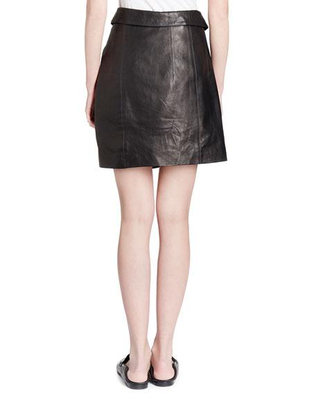 Baixa Leather Wrap Skirt