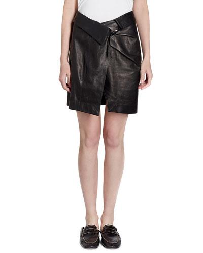 Leather Wrap Skirt