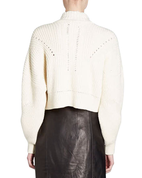 Lane Cropped Mock-Neck Sweater