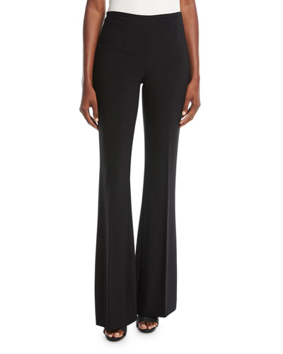 Pleated Wide-Leg Wool Pants