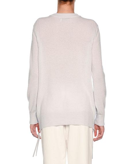 Cashmere Sweatshirt with Zip Pull Detail
