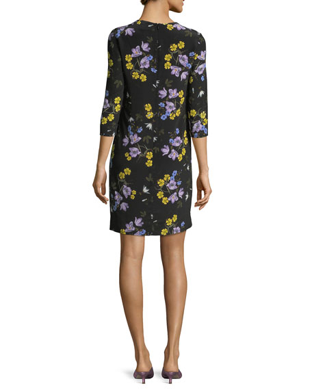 Emma 3/4-Sleeve Floral Dress
