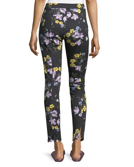 Sidney Floral-Print Ankle Pants