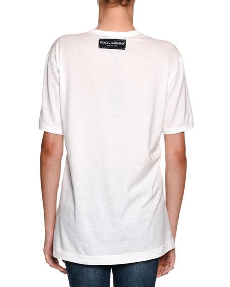 Life is Beautiful Crewneck Cotton Jersey T-Shirt