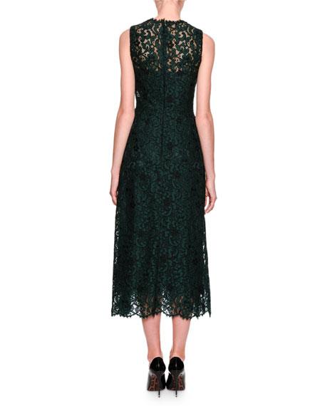 Sleeveless Lace Midi Dress