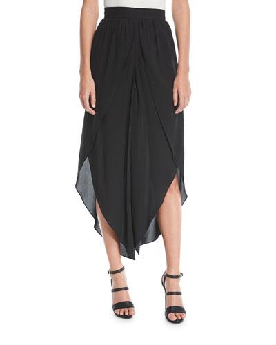 Silk Georgette Sarong Skirt
