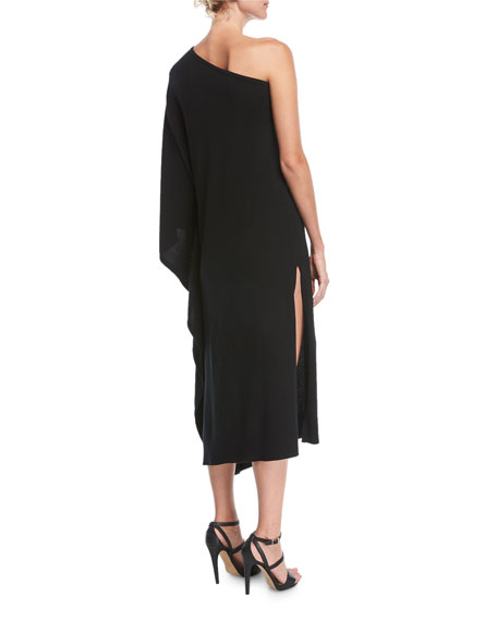 One-Shoulder Cashmere Caftan Dress
