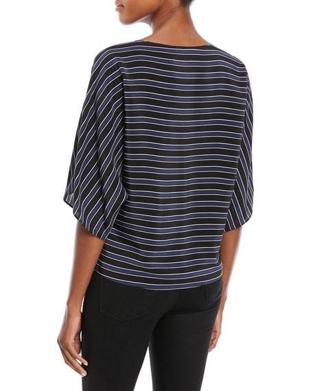 Pajama-Striped Tunic Top