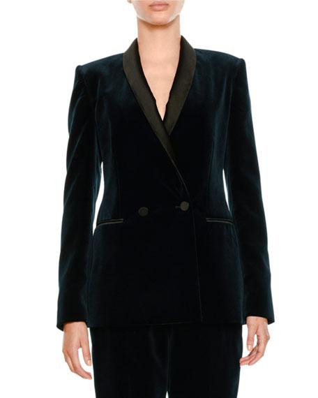 Velvet One-Button Jacket