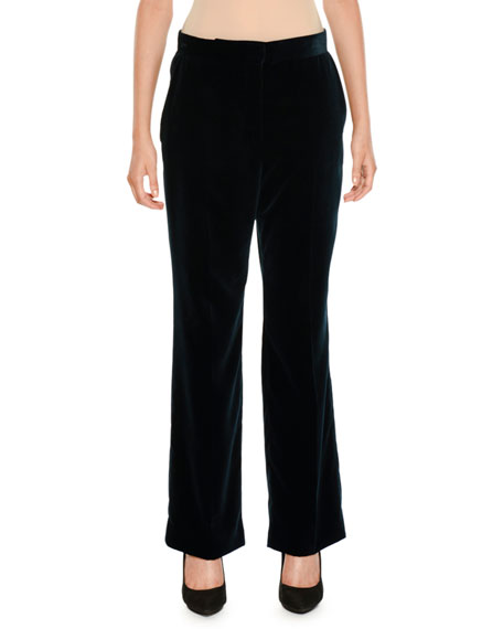 Flared Velvet Pants