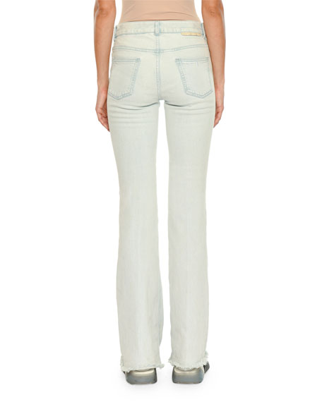 Frayed Light-Wash Denim Jeans