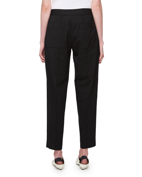 Wool-Stretch Cropped Pants